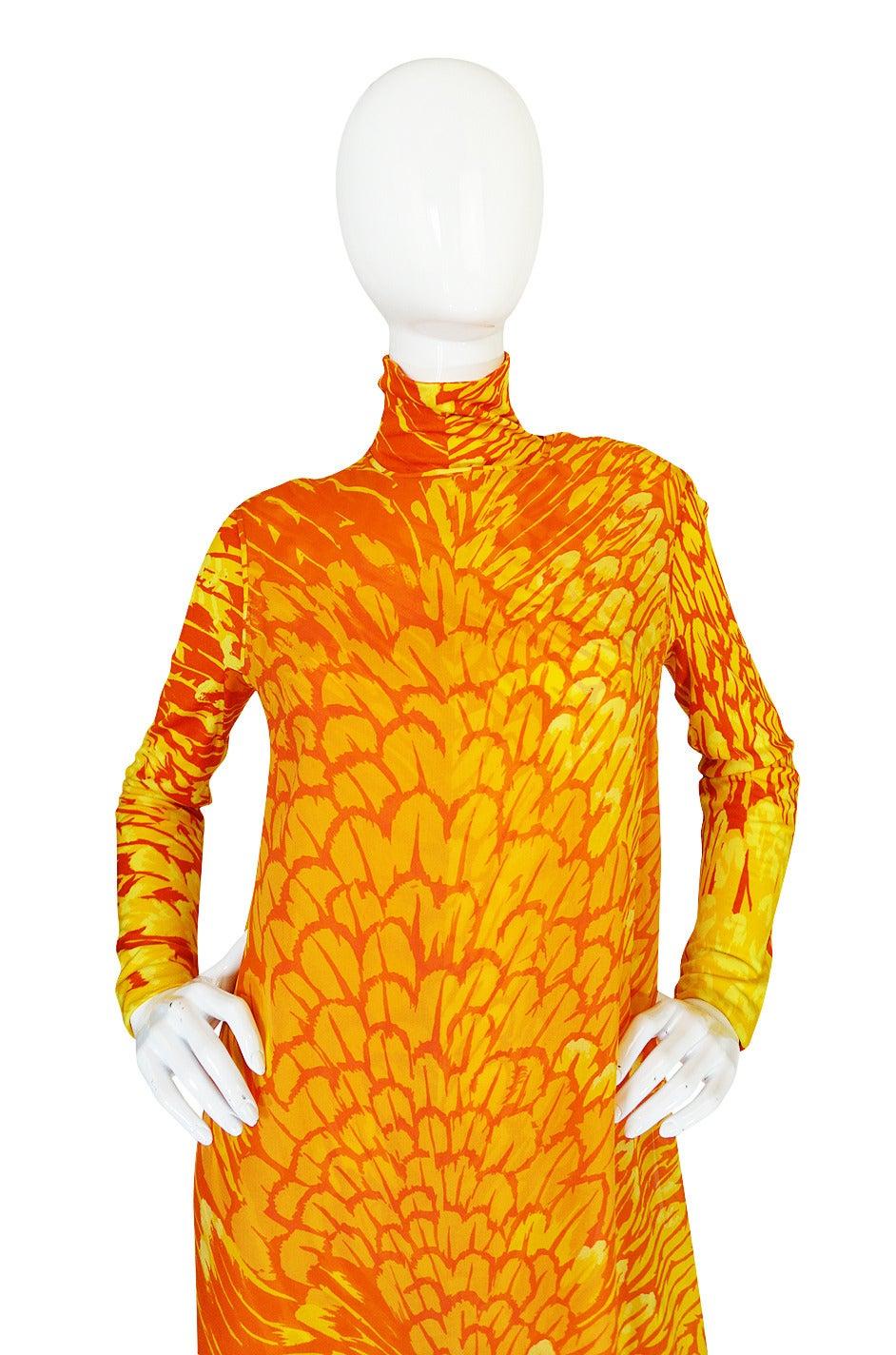 1970s La Mendola Silk Jersey Jumpsuit & Silk Chiffon Overlay 6