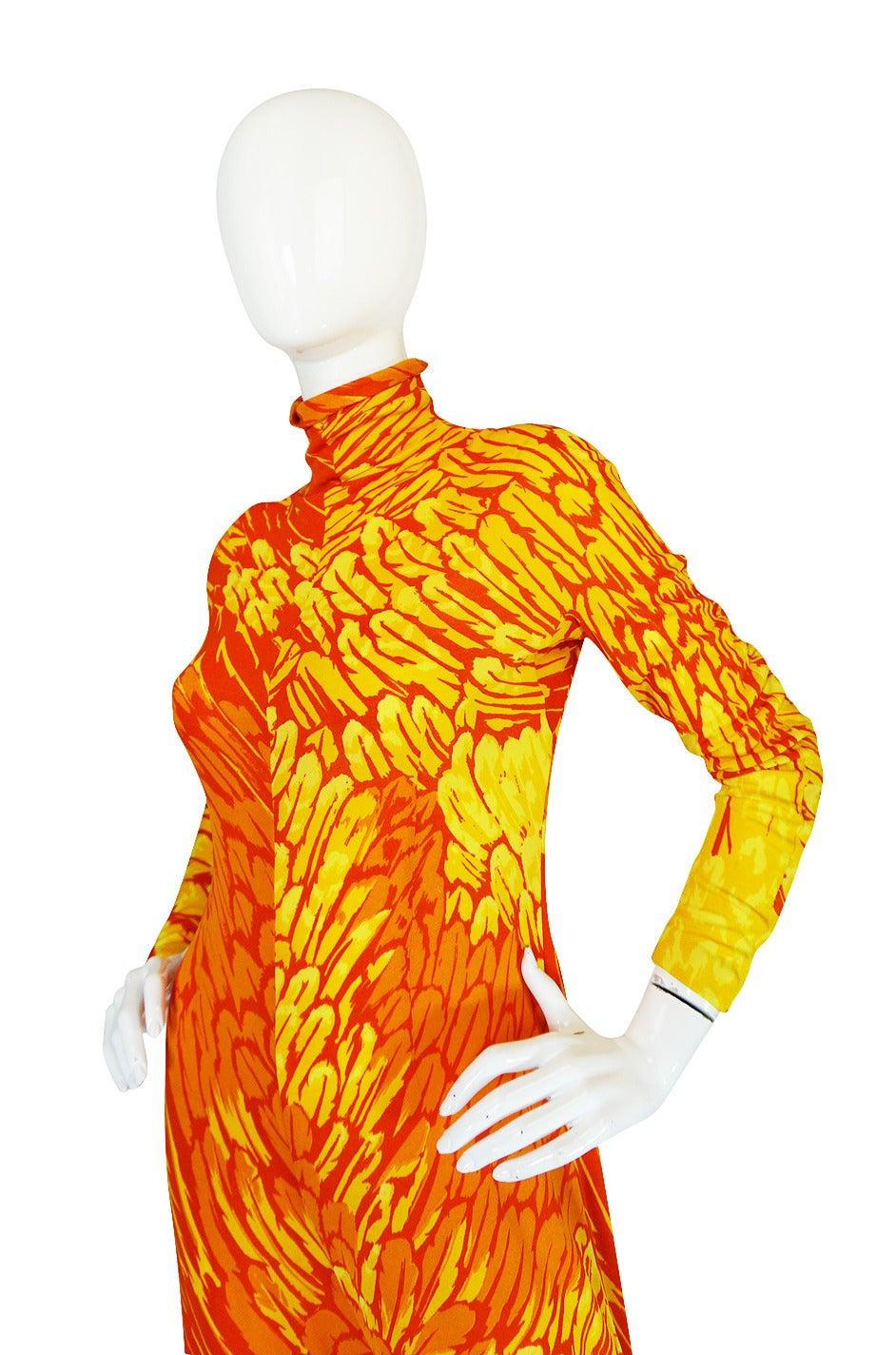1970s La Mendola Silk Jersey Jumpsuit & Silk Chiffon Overlay 8