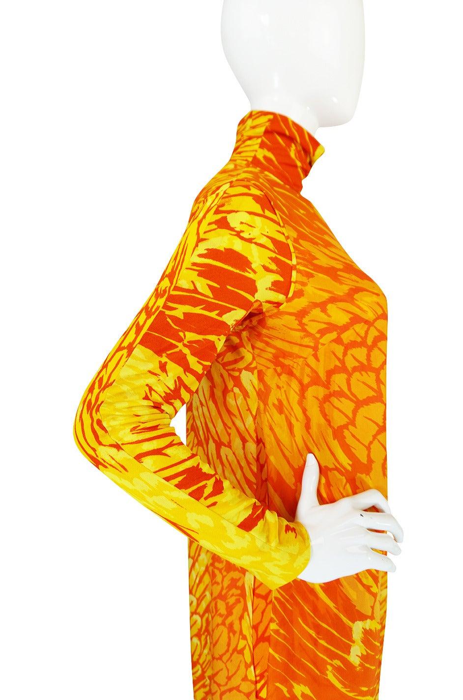1970s La Mendola Silk Jersey Jumpsuit & Silk Chiffon Overlay 7