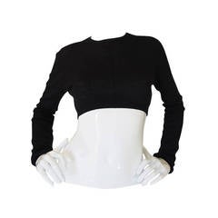 Recent Prada Cashmere Crop Top Sweater