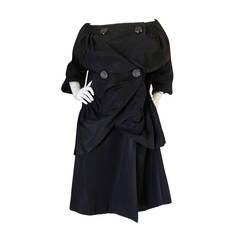 1950s Pedro Rodriquez Couture Ruffled Evening Coat