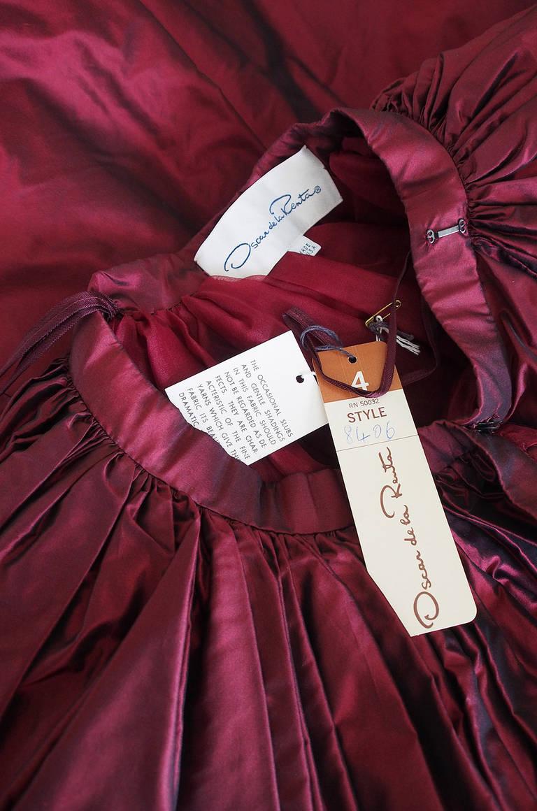1980s Oscar De La Renta Silk Ball Gown Skirt 5