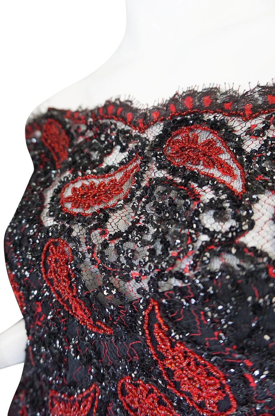 1980s Densely Beaded Fine 'Koos Couture' Dress For Sale 2