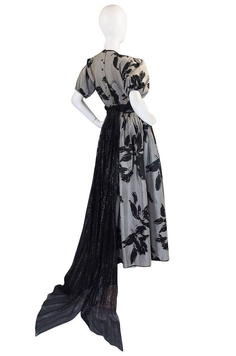 1970s Spectacular Geoffrey Beene Silk Gown 2