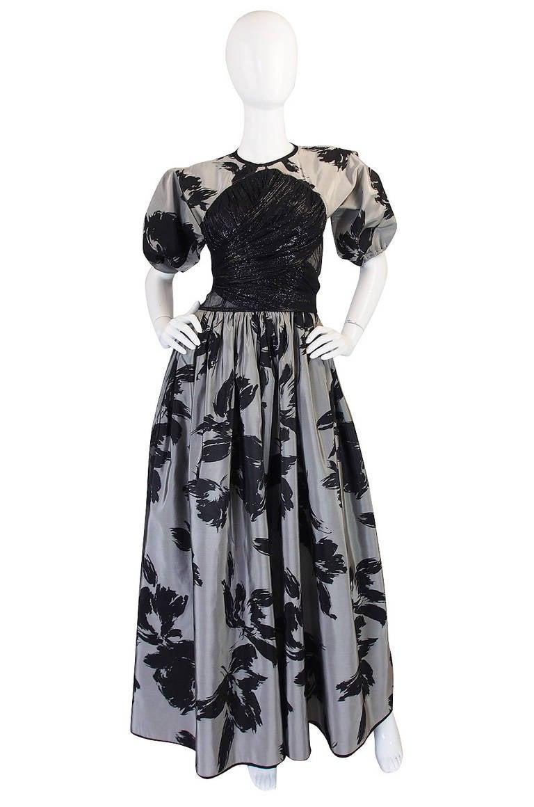 1970s Spectacular Geoffrey Beene Silk Gown 3