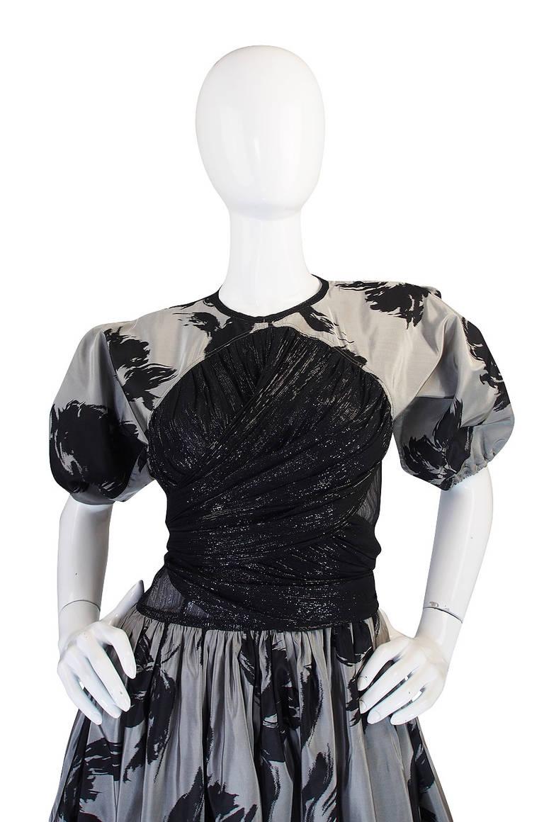 1970s Spectacular Geoffrey Beene Silk Gown 4
