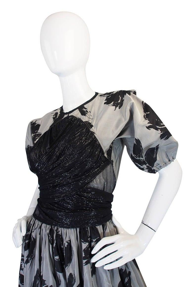 1970s Spectacular Geoffrey Beene Silk Gown 5