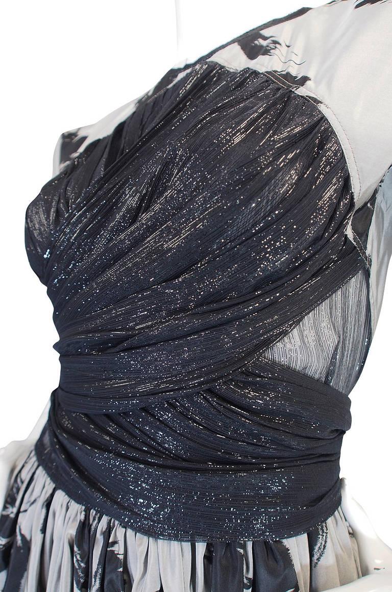 1970s Spectacular Geoffrey Beene Silk Gown 7