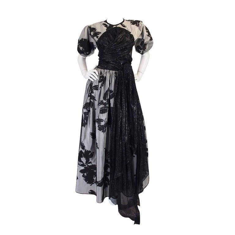 1970s Spectacular Geoffrey Beene Silk Gown 1
