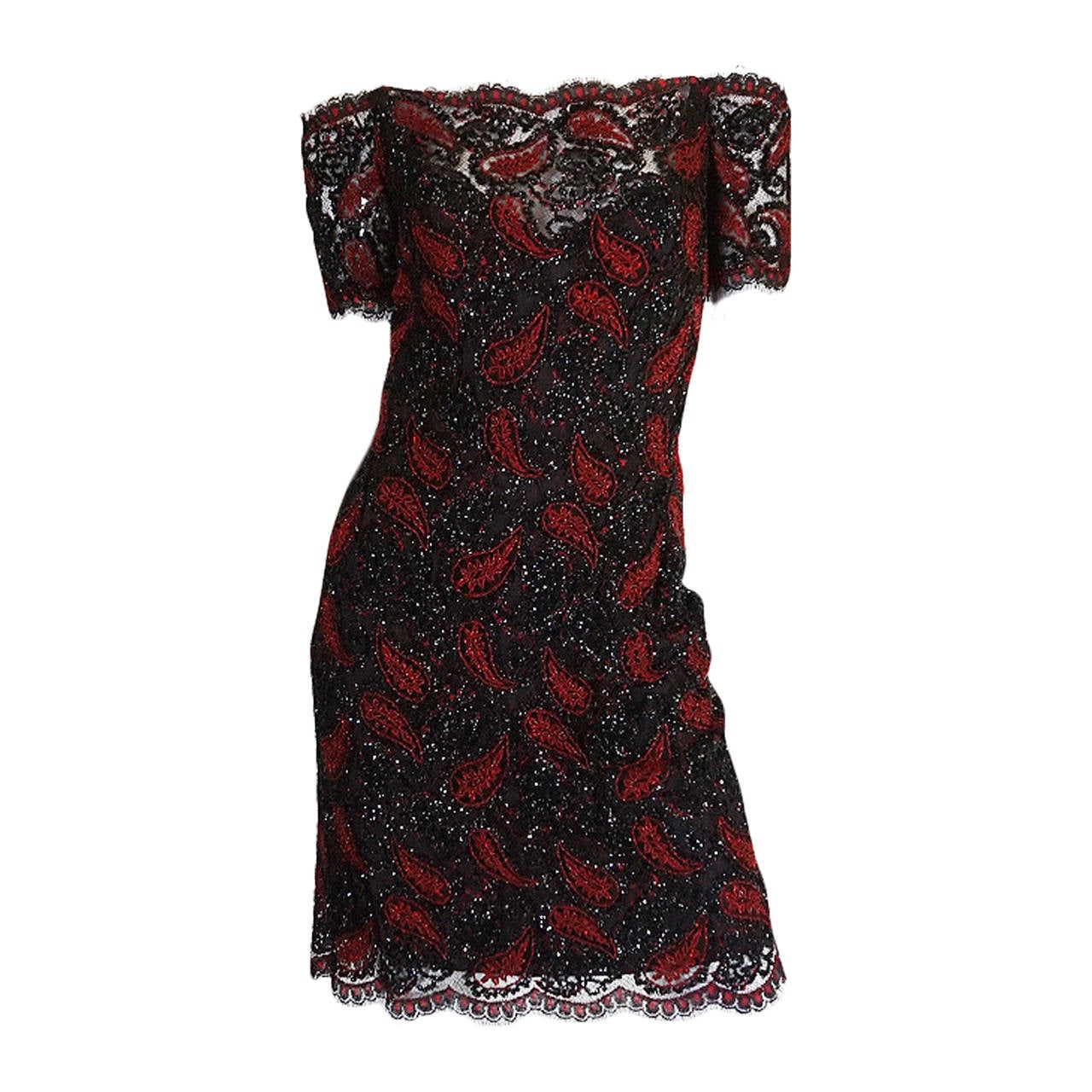1980s Densely Beaded Fine 'Koos Couture' Dress For Sale