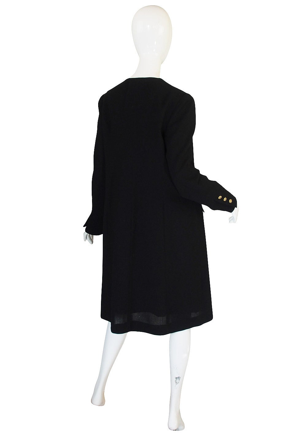 96A Runway Chanel Coat Dress w Cabochon Buttons 2