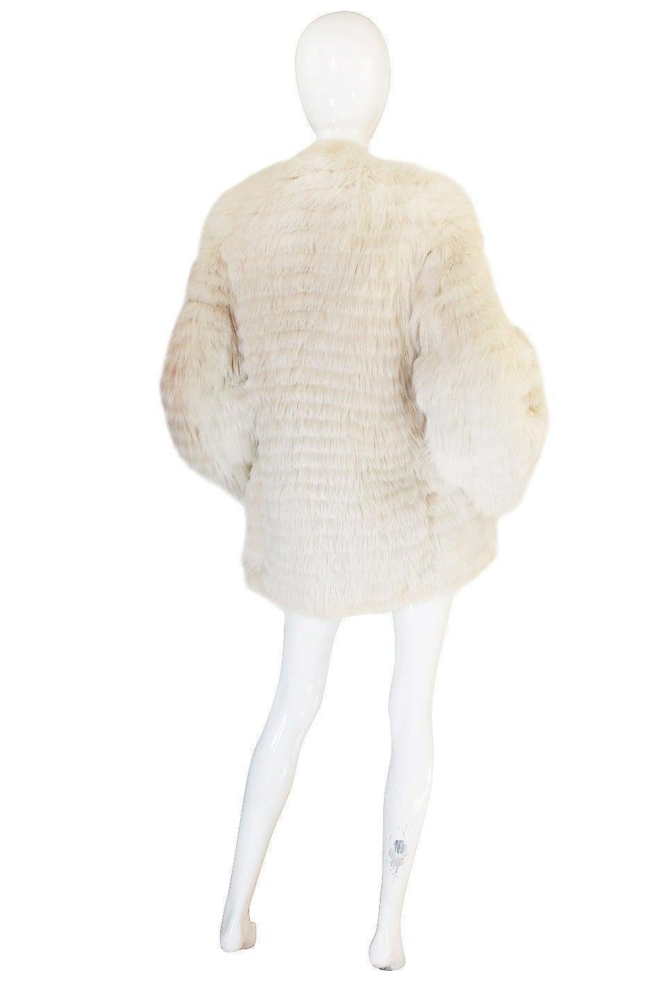 1978 Yves Saint Laurent Feather Fox & Mink Fur Jacket 2