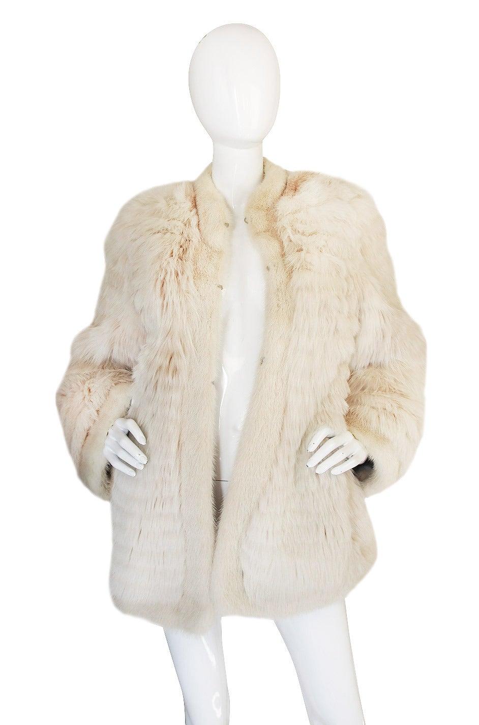 1978 Yves Saint Laurent Feather Fox & Mink Fur Jacket 3