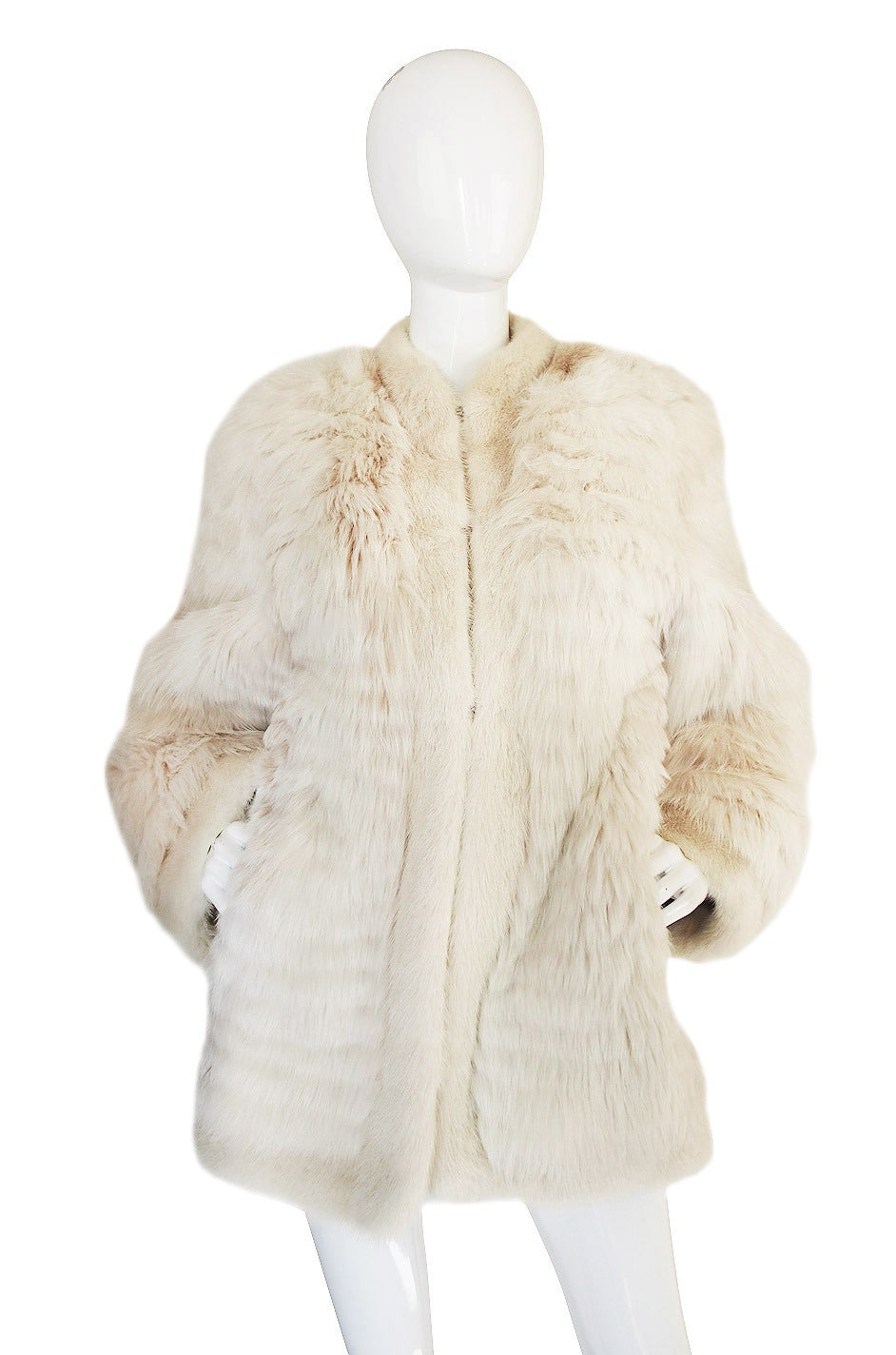 1978 Yves Saint Laurent Feather Fox & Mink Fur Jacket 4