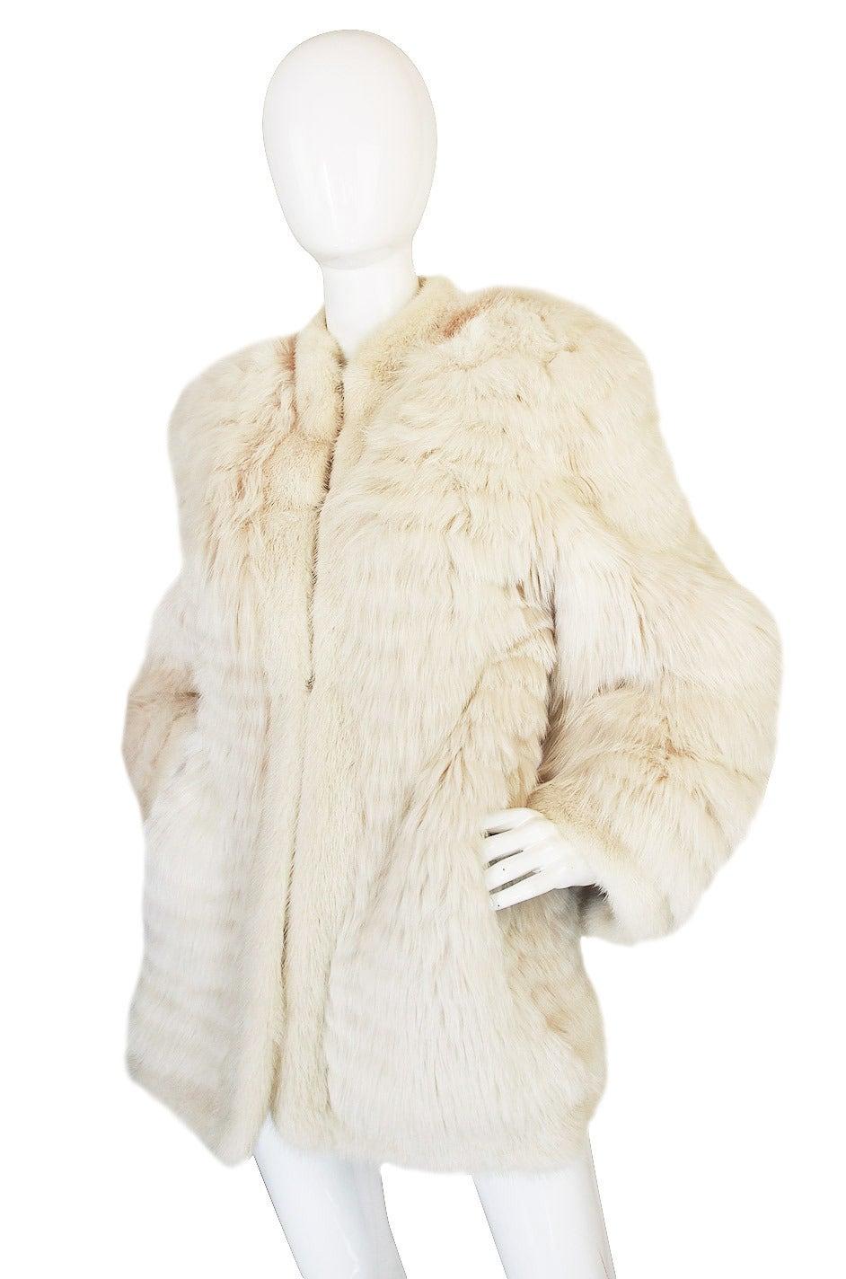 1978 Yves Saint Laurent Feather Fox & Mink Fur Jacket 5