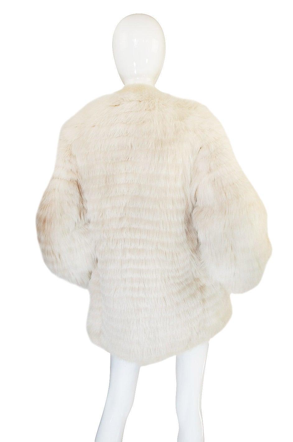 1978 Yves Saint Laurent Feather Fox & Mink Fur Jacket 6