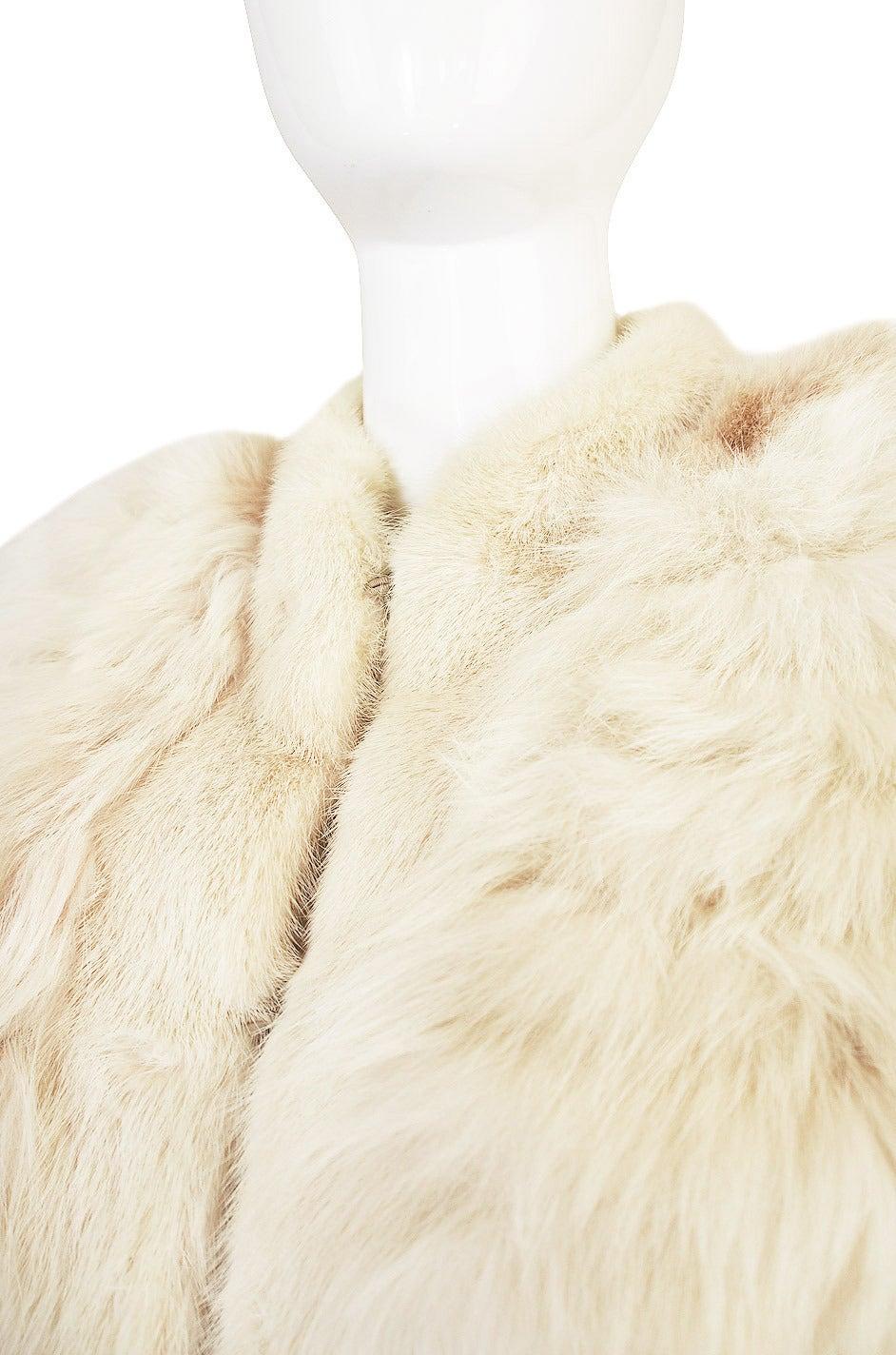 1978 Yves Saint Laurent Feather Fox & Mink Fur Jacket 8