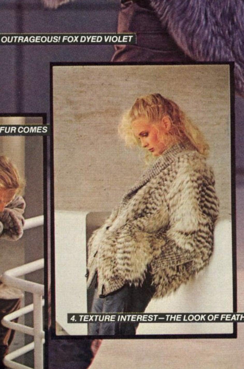 1978 Yves Saint Laurent Feather Fox & Mink Fur Jacket 10