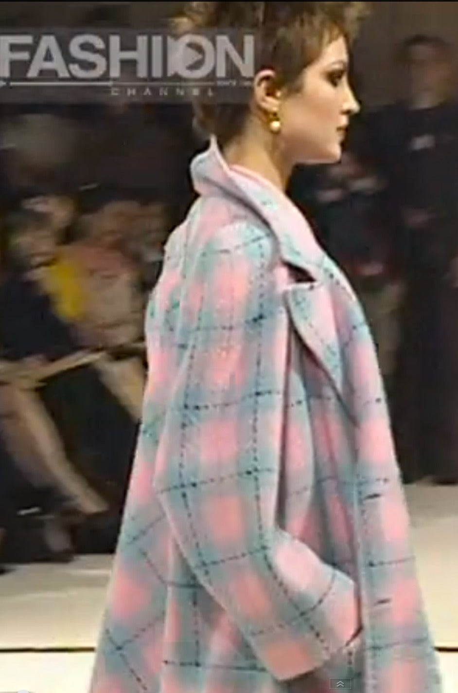 96A Pastel Runway Chanel Coat w Cabochon Buttons 10