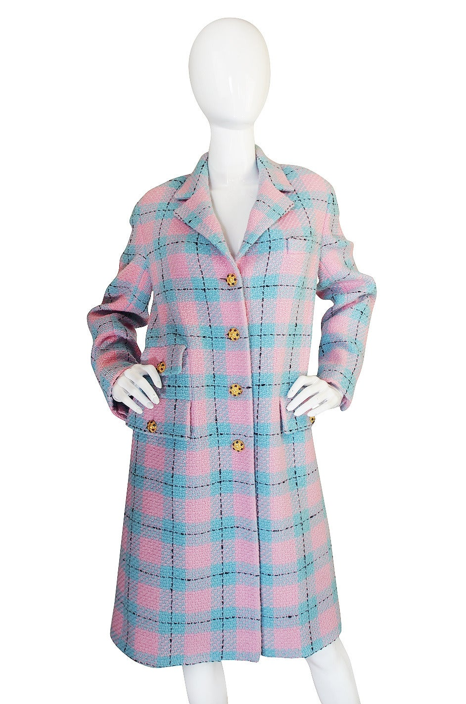 Chanel 96A Pastel Runway Coat with Cabochon Buttons 3