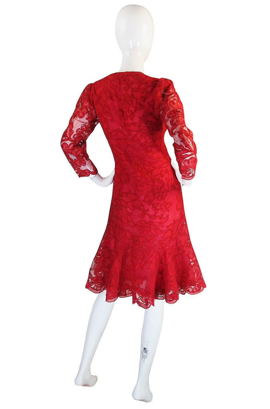 1983 Haute Couture Yves Saint Laurent Lace Dress 2
