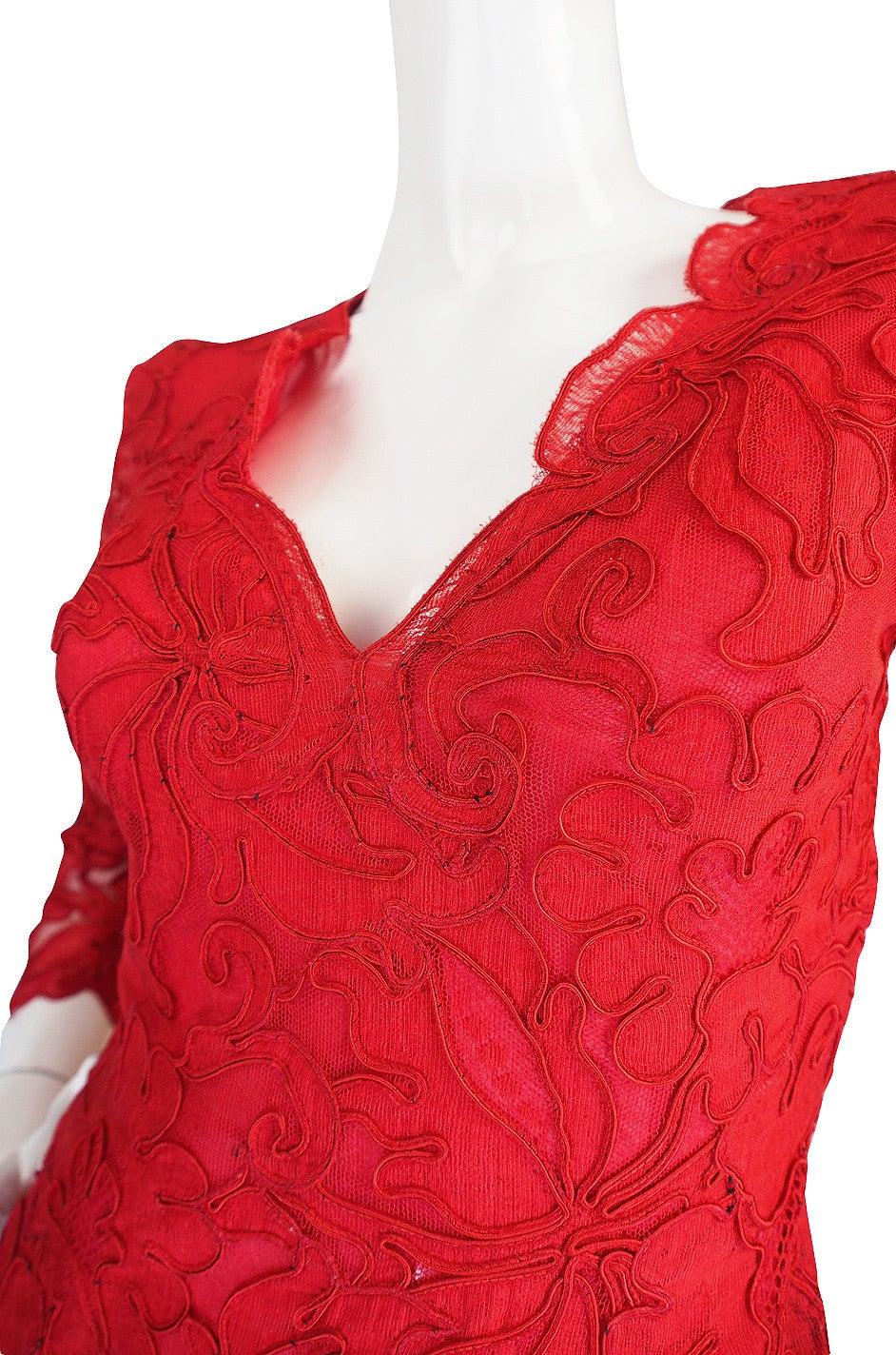 1983 Haute Couture Yves Saint Laurent Lace Dress 7