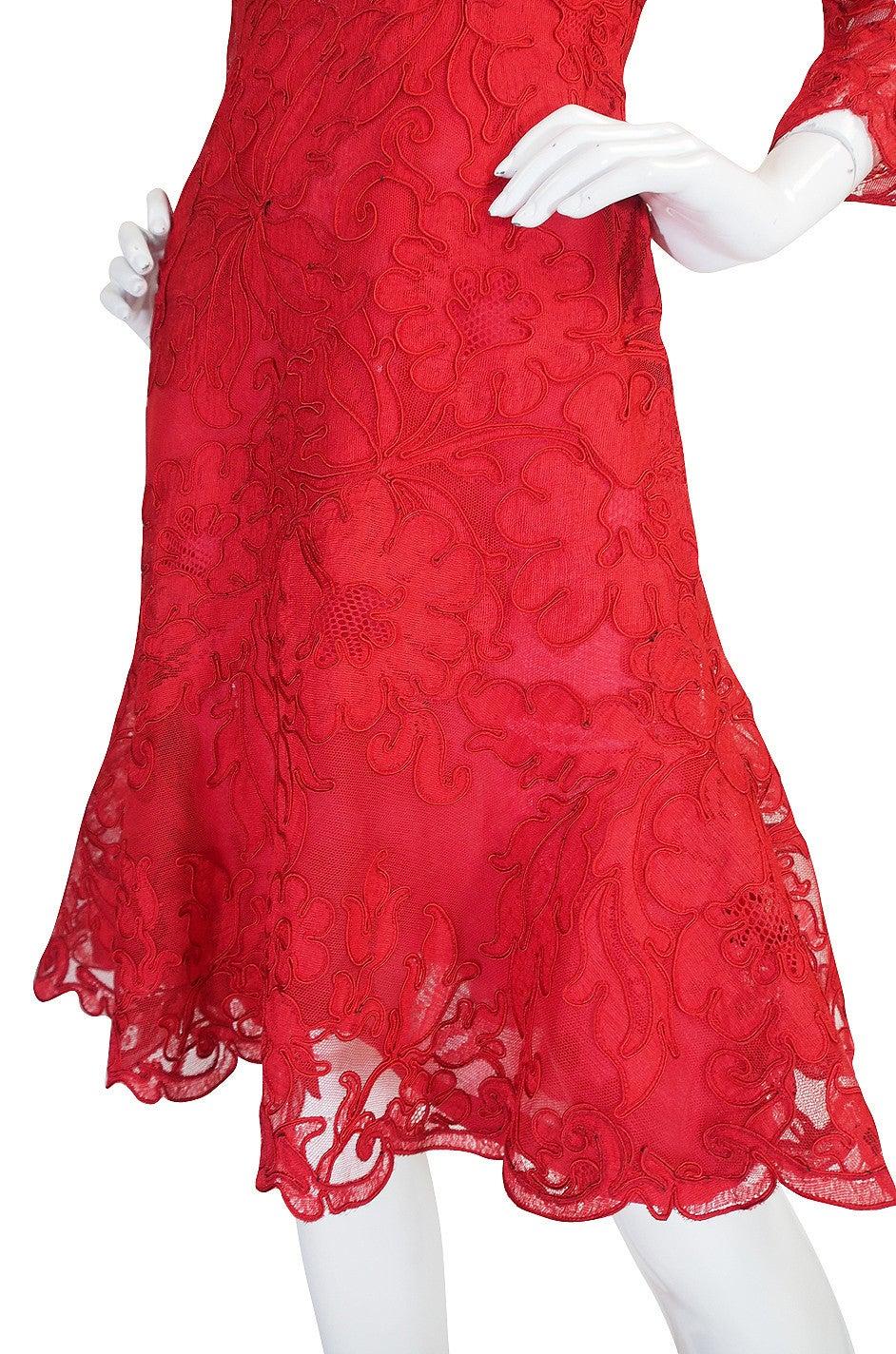 1983 Haute Couture Yves Saint Laurent Lace Dress 8