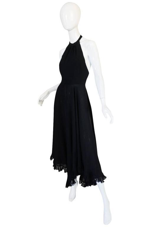 1970s Gorgeous Valentino Backless Silk Chiffon Dress 2