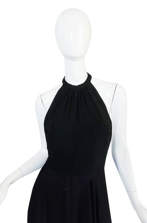 1970s Gorgeous Valentino Backless Silk Chiffon Dress 4