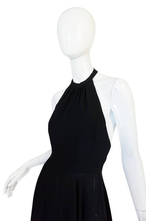 1970s Gorgeous Valentino Backless Silk Chiffon Dress 5