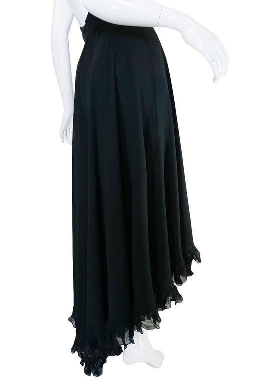 1970s Gorgeous Valentino Backless Silk Chiffon Dress 6