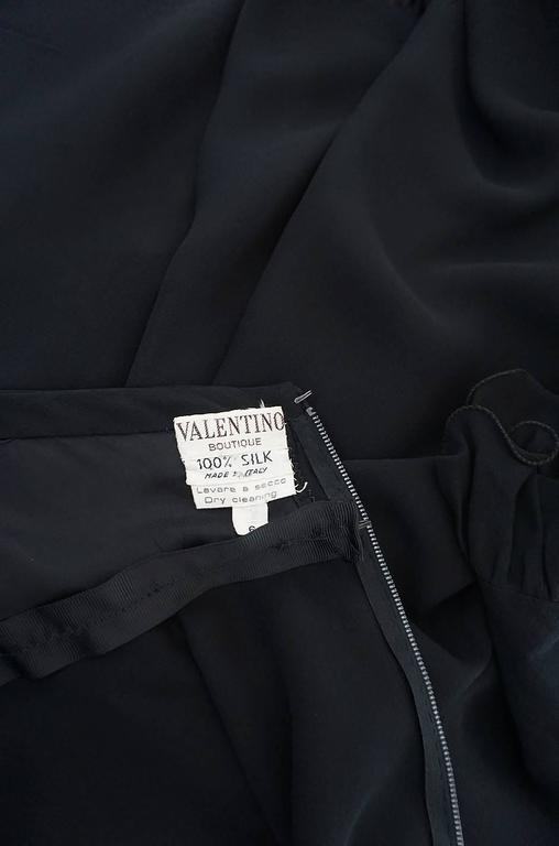 1970s Gorgeous Valentino Backless Silk Chiffon Dress 7