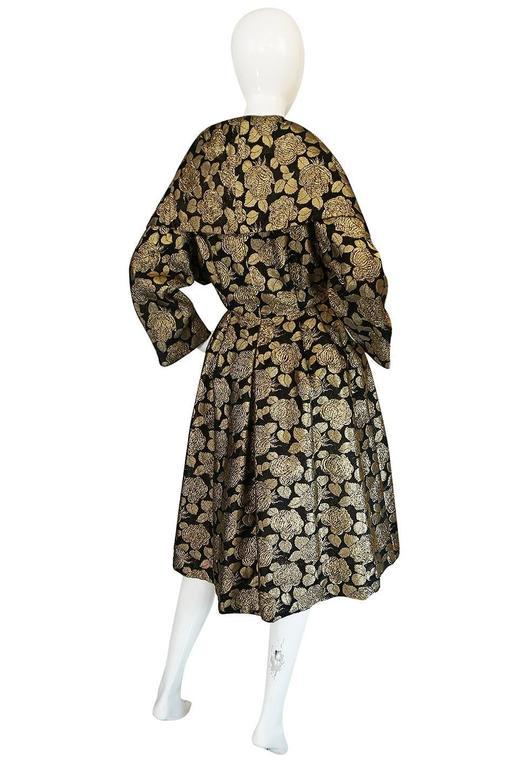 "1950s Rich Gold Thread Silk Brocade ""New Look"" Coat 2"