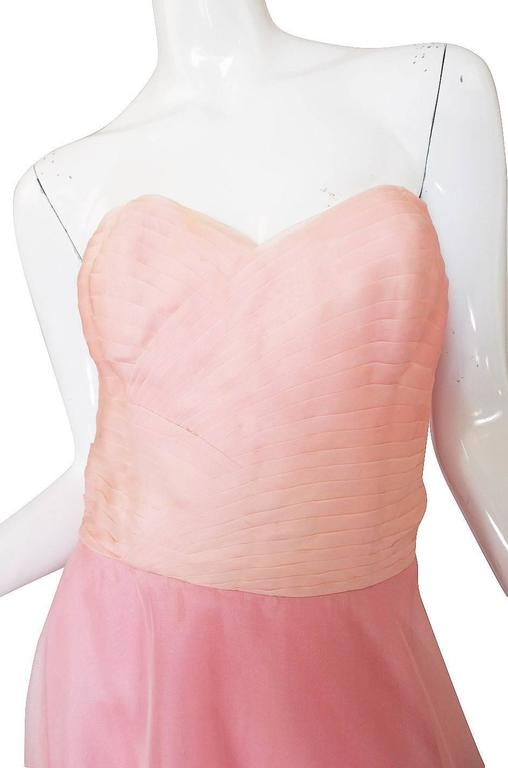 Dramatic 1975 Loris Azzaro Couture Pink Silk Gown & Cape 7