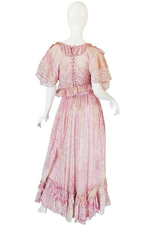 "Rare 1974 ""The Lily"" Collection Zandra Rhodes Dress Set 2"