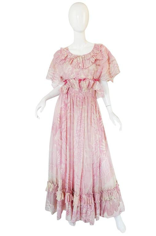 "Rare 1974 ""The Lily"" Collection Zandra Rhodes Dress Set 3"