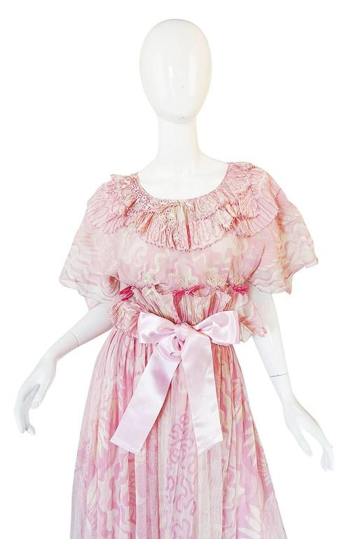 "Rare 1974 ""The Lily"" Collection Zandra Rhodes Dress Set 4"