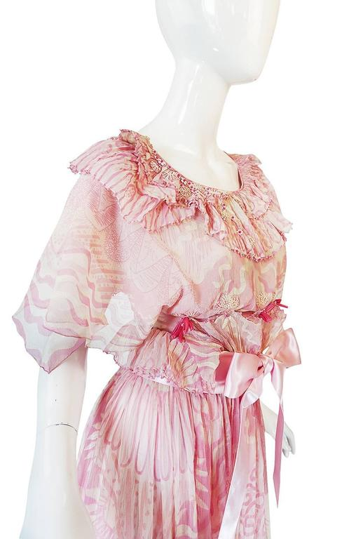 "Rare 1974 ""The Lily"" Collection Zandra Rhodes Dress Set 8"