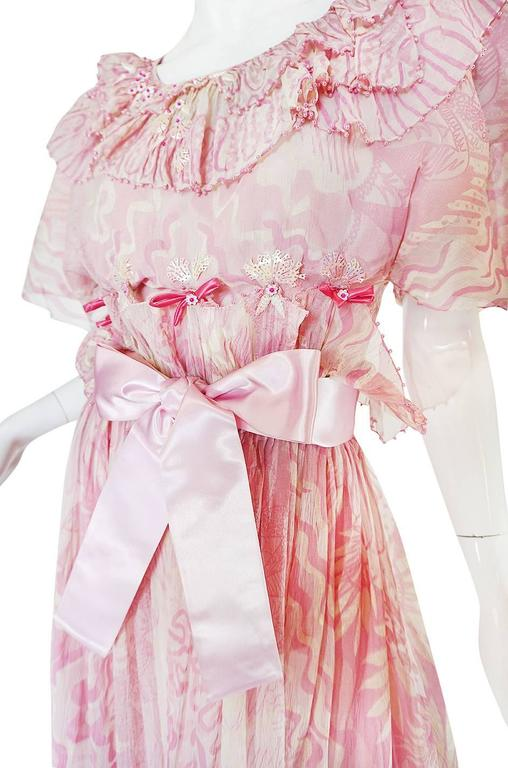 "Rare 1974 ""The Lily"" Collection Zandra Rhodes Dress Set 6"