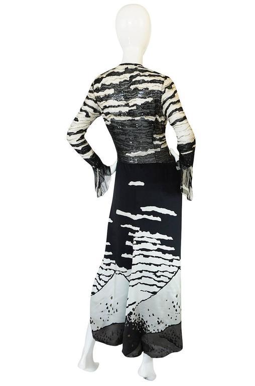 1996 Hanae Mori Haute Couture Beaded Silk Dress 2