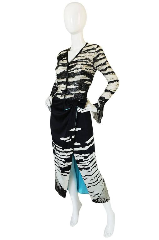 1996 Hanae Mori Haute Couture Beaded Silk Dress 3