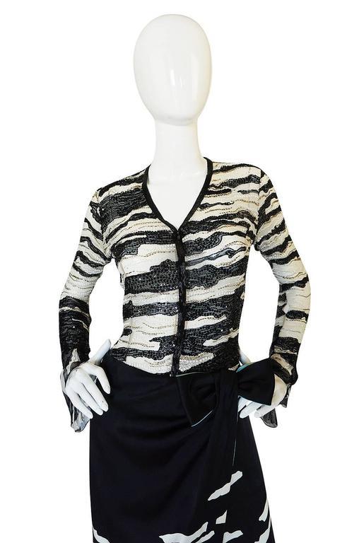 1996 Hanae Mori Haute Couture Beaded Silk Dress 6