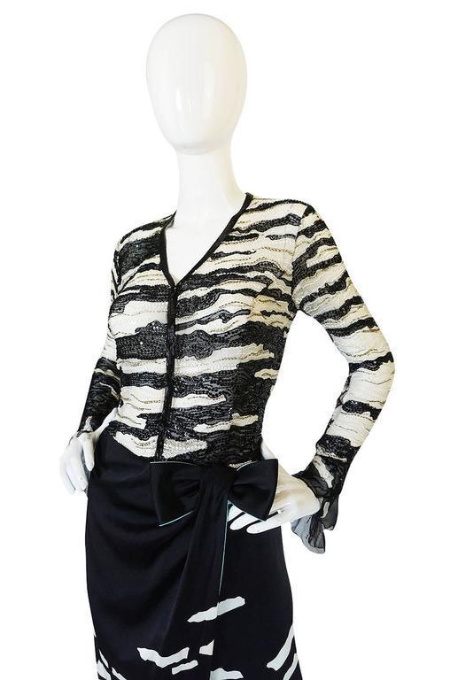 1996 Hanae Mori Haute Couture Beaded Silk Dress 4