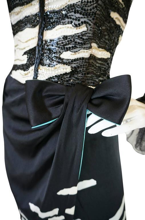 1996 Hanae Mori Haute Couture Beaded Silk Dress 7