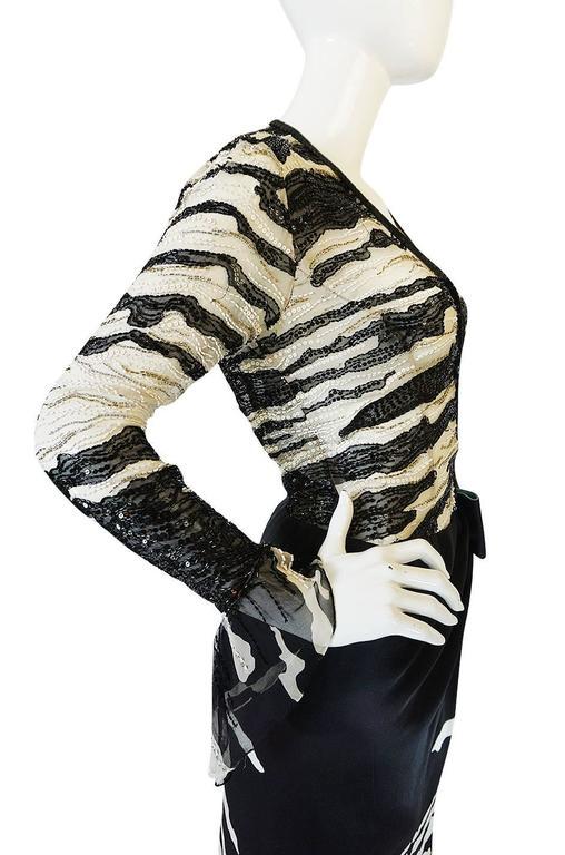 1996 Hanae Mori Haute Couture Beaded Silk Dress 8