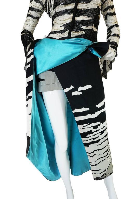 1996 Hanae Mori Haute Couture Beaded Silk Dress 5
