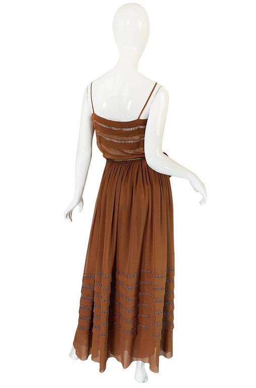 1978 Christian Dior Haute Couture Silk Dress with Belt 2