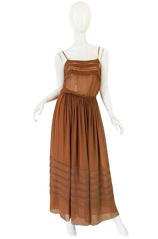 1978 Christian Dior Haute Couture Silk Dress with Belt 3