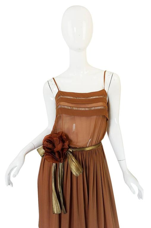 1978 Christian Dior Haute Couture Silk Dress with Belt 4