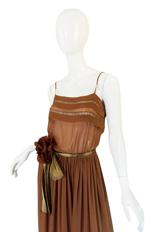 1978 Christian Dior Haute Couture Silk Dress with Belt 5